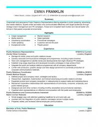 Public Relations Resume Templates Entry Levelr Resumes Cablo