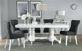 white dining table and chairs white extending dining table with 6 slate chairs regarding black and