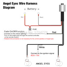1pc relay wiring harness kit for bmw ccfl led angel eyes light 1pc relay wiring harness kit for bmw ccfl led angel eyes light fade function ct4758 in car light assembly from automobiles motorcycles on aliexpress com