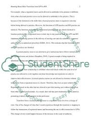 role transition from lpn to rn essay example topics and well role transition from lpn to rn essay example