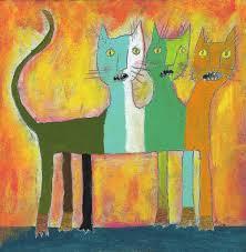 Mythological cat Painting by Amalia Low | Saatchi Art