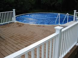above ground pool with deck attached to house. Nice Modern White Nuance Of The Above Ground Pool Decks That Can Be Decor With Wooden Deck Attached To House