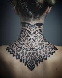Effedots Tattoo Nape Back Piece тату на затылке сзади верх