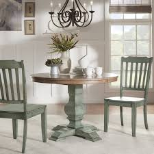 Eleanor Two-tone Round Solid Wood Top Dining Table by iNSPIRE Q Classic -  Free Shipping Today - Overstock.com - 20162680