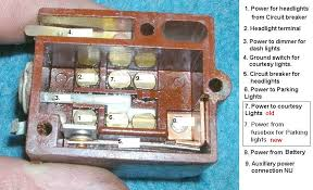 headlight switch wiring help needed jeepforum com the dome light ground is actually a switch inside the light switch when the rheostat is turned all the way in one direction the switch shorts to ground