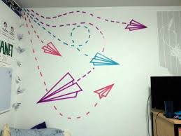 Washi Tape Paper Airplane Wall Art
