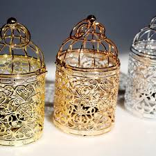 Tea Light Birdcage 1pc Europe Style Birdcage Tea Light Candle Holder Metal