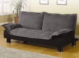 Convertable Beds Modern Microfiber Convertible Sofa Bed 300177 Grey Black