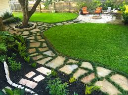 flagstone patio with grass. Backyard Landscape, Flagstone Walkway W/ Dwarf Mondo Grass, \u0026 Patio. Patio With Grass T