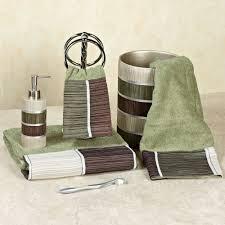 dark green bathroom accessories. modern line sage bath towel set for furnishing bathroom equipment in dark green color design ideas accessories i