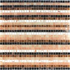 Effekt Glas Mosaik Fliese Stripe Multi Mix - TM33055m