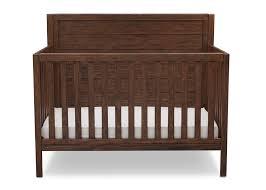 rustic crib furniture. delta children rustic oak 229 cambridge 4in1 crib side view furniture a