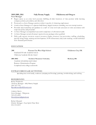 beauty resume