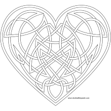 Knotwork Heart Coloring Page Also Available