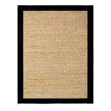 seagrass black 5 ft x 7 ft indoor area rug