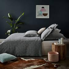 Home Republic - Vintage Washed Linen Coverlet Indigo - Bedroom ... & Home Republic - Vintage Washed Linen Coverlet Indigo - Bedroom Quilt Covers  & Coverlets - Adairs online Adamdwight.com