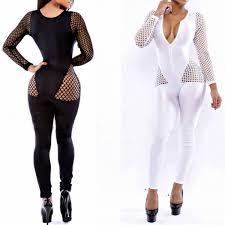 2019 <b>MUXU</b> Black <b>Sexy Transparent</b> Long Sleeve Bodysuit ...