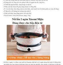 HOT TẾT] Nồi Lẩu 2 ngăn Xiaomi Mijia GJT03CM 4L 27cm Bếp Lẩu Điện Xiaomi  Dùng Được Cho Bếp Điện Từ Bếp Gas – Tặng tai nghe Iphone - Chính Hãng –