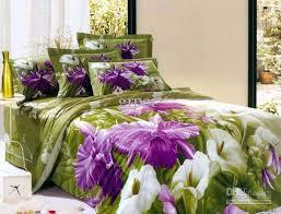 purple green comforter sets flower fl bedding set queen size 17