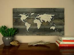 world map string art gift for couple reclaimed wood in on planks on reclaimed wood world map wall art with world map string art gift for couple reclaimed wood in on planks