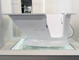 Image Shower Base Modern Walk In Bath With Built In Seat For Any Bathroom showroom View Smooth Baths Modern Walkin Bath For Stylish Bathroom Smooth Baths