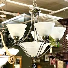 progress lighting alexa 5 light chandelier brushed nickel consign to