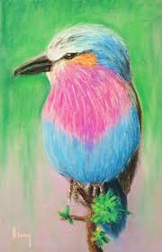 soft pastel artwork by a 9 year old student