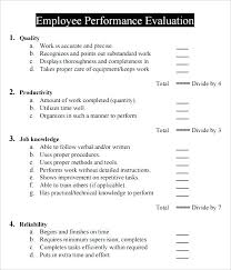 Performance Review Template Word Employee Google Search Evaluation ...