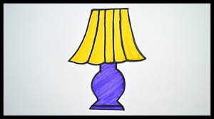 How To Draw A Lamp Drawing And Coloring For Kids Drawing In