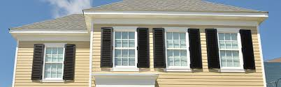 White shutters on house Small White Or Black Shutters Can Work Very Well With Beige Home White Shutters If Matched To Your Window Trim Can Make Smaller House Appear Larger Las Enterprises The Best Color Of Shutters For Your Home Las Shutters Windows