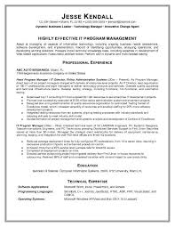 Gallery Of Information Technology Manager Resume Examples Objective