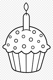 Clip Art Free And Birthday Cupcake Coloring Pages Png Download