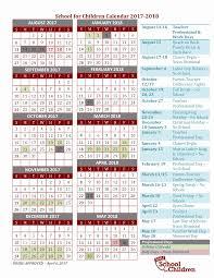 School Calendar SFC School Calendar 21