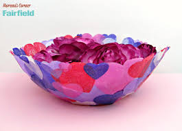 How To Decorate A Bowl Heart Fabric Bowl made with OlyFun Fairfield World Blog 30