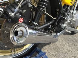 rd400 cafe racer als exhaust