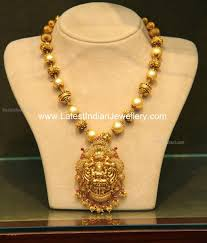 Temple Jewellery Gold Necklace Designs Malabar Gold Temple Jewellery With Pearls Gold Temple
