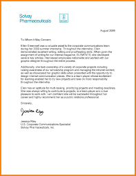Ideas Collection Letter Re mendation Template For Internship With Job Summary