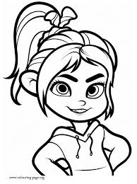 Wreck It Ralph Vanellope Von Schweetz Coloring Page Coloring Home