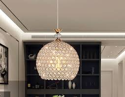 led glass chandelier dining room crystal ceiling lamp
