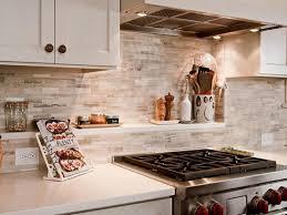 Cobblestone Kitchen Floor Outstanding Backsplash Using Cobblestone Material Myohomes