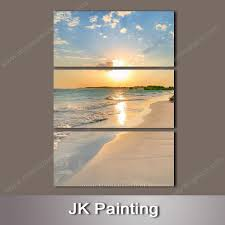 wall art painting combination printed canvas picture of beach sunset scenery whole canvas print deals