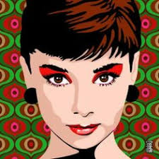 twiggy audrey hepburn sean connery steve mcqueen pop portraits by nokat my eyes went really big and round when i first s