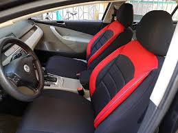 car seat covers protectors land rover freelander 2 black red no25 complete