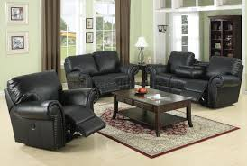 reclining living room furniture sets. Black Bonded Leather Reclining Living Room Sofa W/Options Furniture Sets