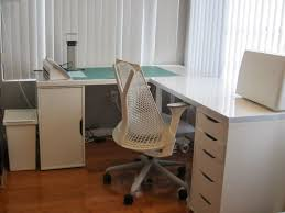 Office L Shaped Desk Home Office Ikea With Modern White Computer