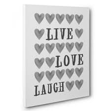 laugh hearts canvas wall art