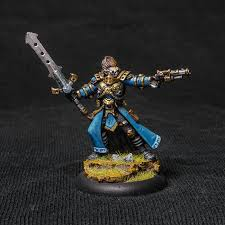 hand painted warmachine cygnar lord commander coleman stryker