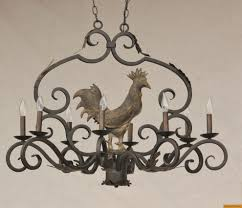 1820 6 rustic farmhouse wrought iron chandelier