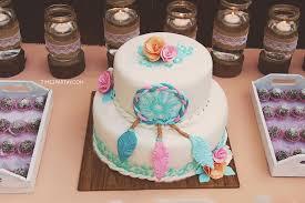 Dream Catcher Baby Shower Cake Dream catcher cake from a Dream Catcher Baby Shower via Kara's 18