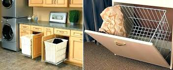 laundry basket cabinets built in hamper cabinet exquisite decoration closet awesome pull out drawers